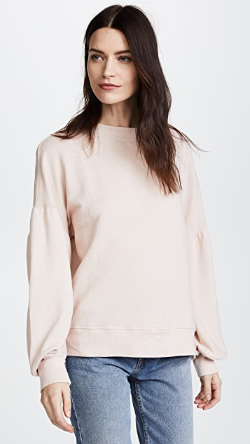 Joie Isae Puff Sleeve Sweatshirt - Heather Rose