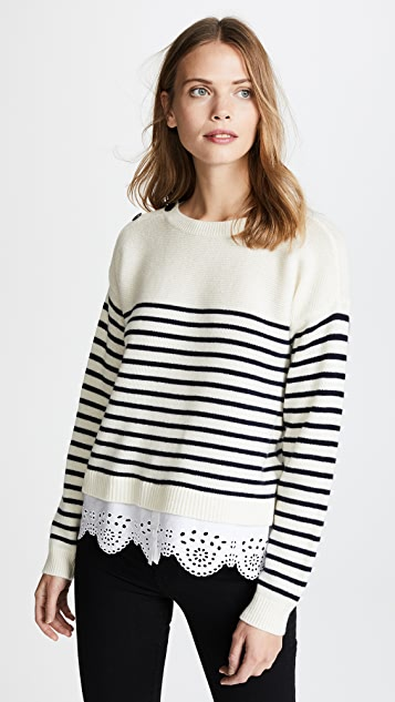 Joie Aefre Sweater - Porcelain/Midnight/Porcelain