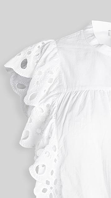 Joie Coralia Embroidered Top