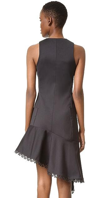 Jonathan Simkhai Zip Front Ruffle Dress