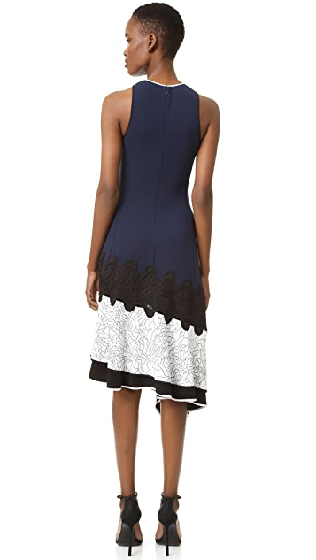 Jonathan Simkhai Asymmetrical Constellation Dress