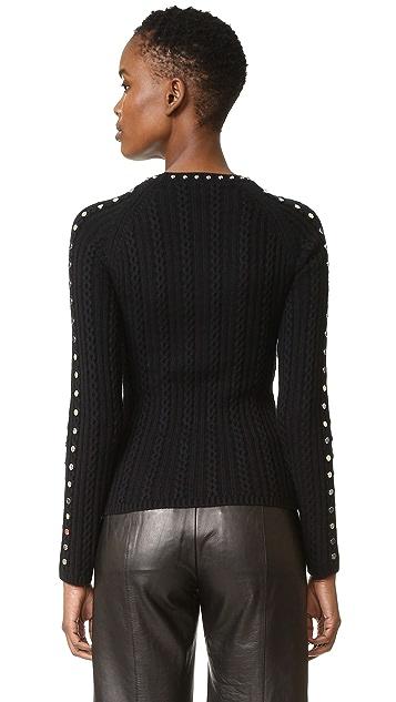 Jonathan Simkhai Beaded Crew Neck Sweater