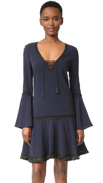 Jonathan Simkhai Crepe Trim Tunic Dress