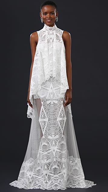 Jonathan Simkhai Layered Lace Gown