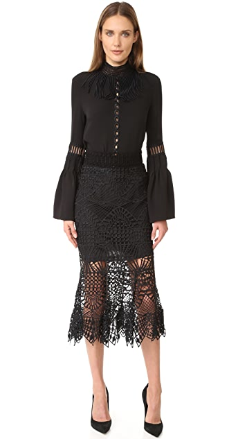Jonathan Simkhai Кружевная юбка-годе Bridge