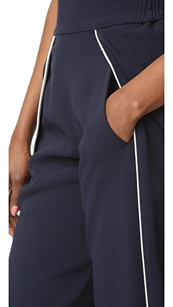 Jonathan Simkhai Classic Crepe Side Slit Pants