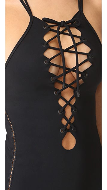 Jonathan Simkhai Lace Up One Piece