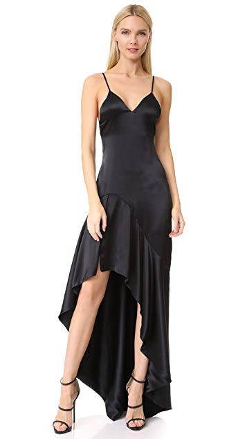 Jonathan Simkhai Silk High Low Gown