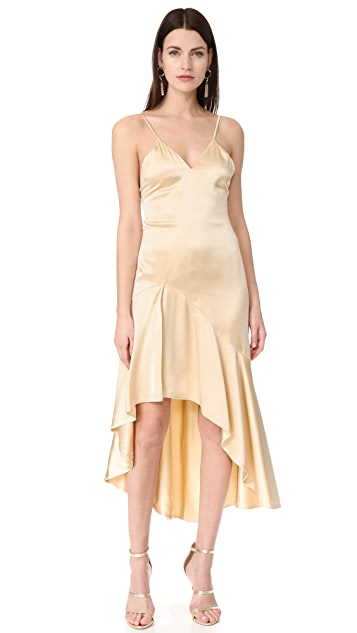 Jonathan Simkhai Silk High Low Slip Dress