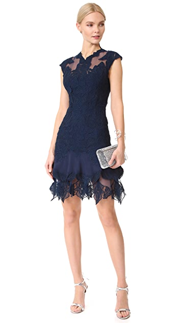 Jonathan Simkhai Multimedia Corded Mini Ruffle Dress