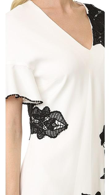 Jonathan Simkhai Lace Flutter Tee Dress