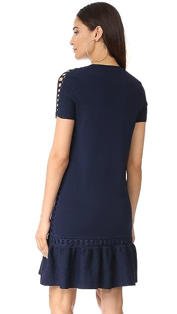 Jonathan Simkhai Chainlink Knit Boxy Dress
