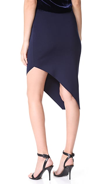 Jonathan Simkhai Signature Knit Asymmetrical Skirt