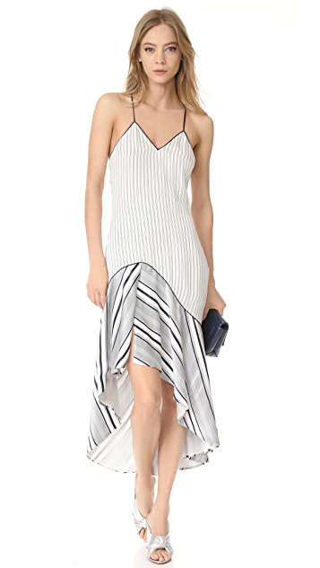 Jonathan Simkhai Multimedia High / Low Dress