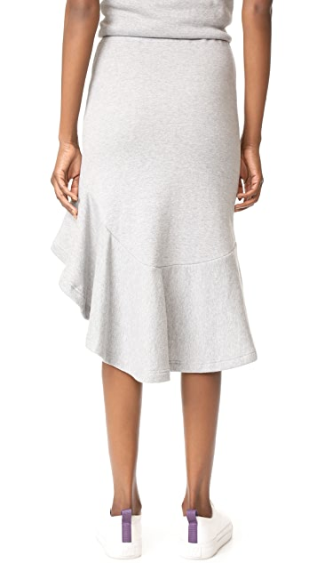 Jonathan Simkhai Lace-Up Slit Skirt