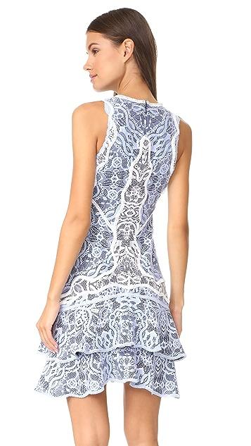 Jonathan Simkhai Two Tone Lace Mini Dress