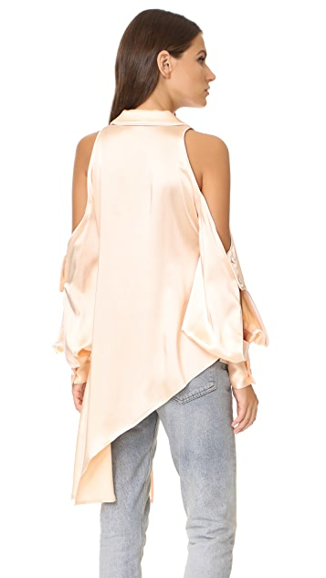 Jonathan Simkhai Cold Shoulder Blouse
