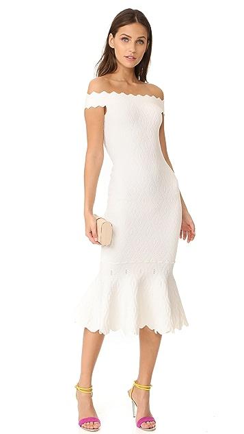 Jonathan Simkhai Diamond Texture Trumpet Knit Dress