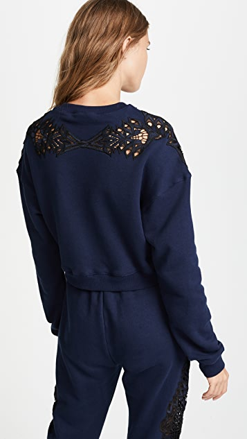 Jonathan Simkhai Lace Applique Pullover