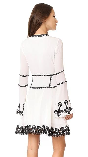 Jonathan Simkhai Mixed Trim Silk Dress