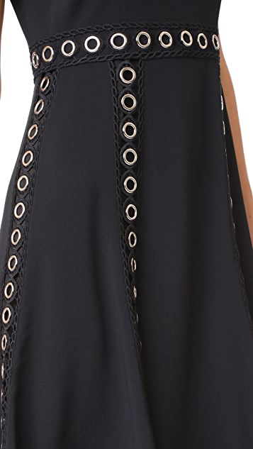 Jonathan Simkhai Grommet Stretch Dress
