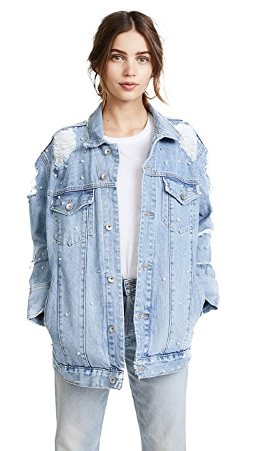 Jonathan Simkhai Denim Studded Jacket