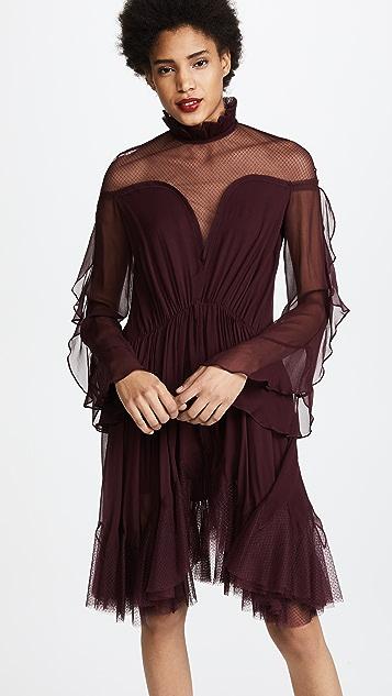 Jonathan Simkhai Gathered Silk Combo Layered Dress
