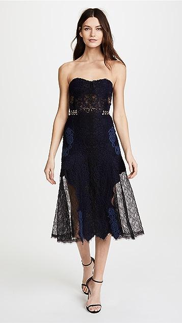 Jonathan Simkhai Grommet Bustier Midi Dress
