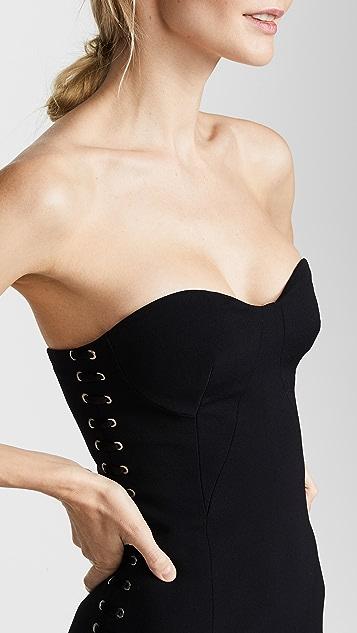 Jonathan Simkhai Grommet Bustier Dress
