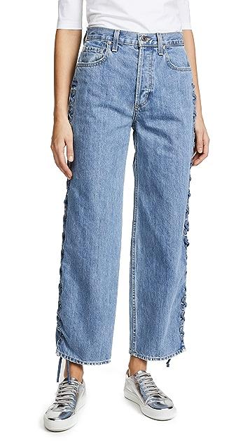 Jonathan Simkhai Embellished Denim Nana Jeans