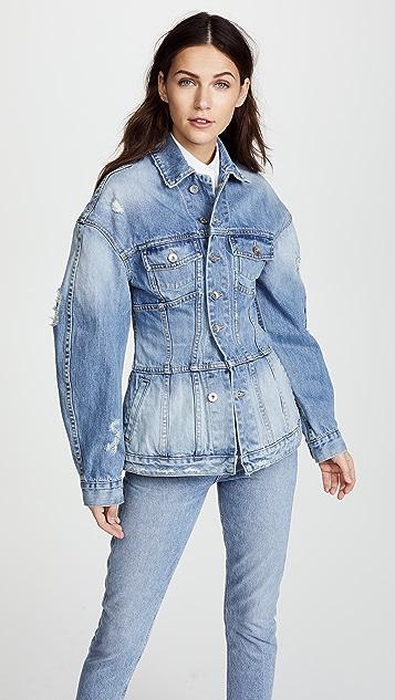 Jonathan Simkhai Classic Denim Corset Jacket - Medium Indigo
