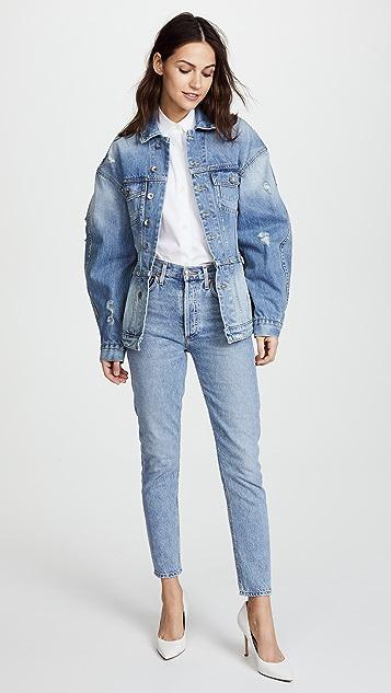 Jonathan Simkhai Classic Denim Corset Jacket