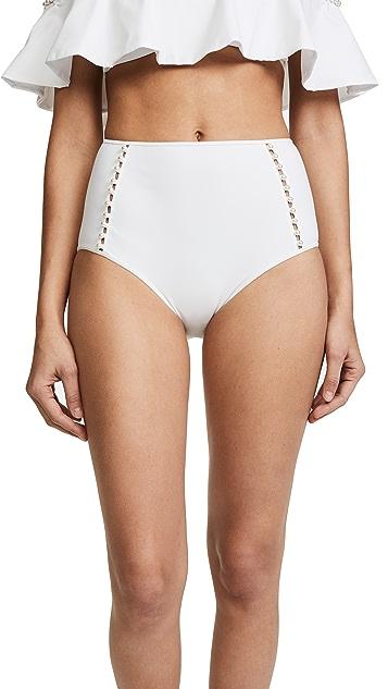 Jonathan Simkhai High Waist Bikini Bottoms