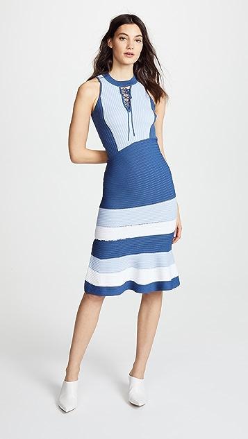 Jonathan Simkhai Linked Rib Asymmetric Dress