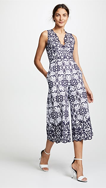 Scallop Cutout Embroidery Jumpsuit by Jonathan Simkhai