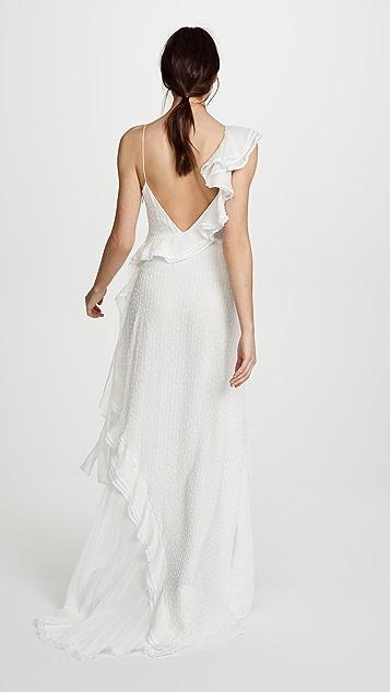 Jonathan Simkhai Silk Lace Maxi Dress