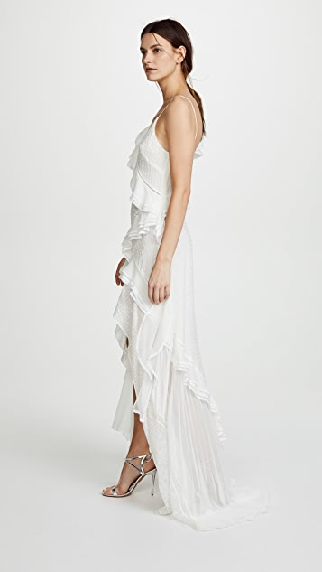 Jonathan Simkhai Silk Lace Maxi Dress