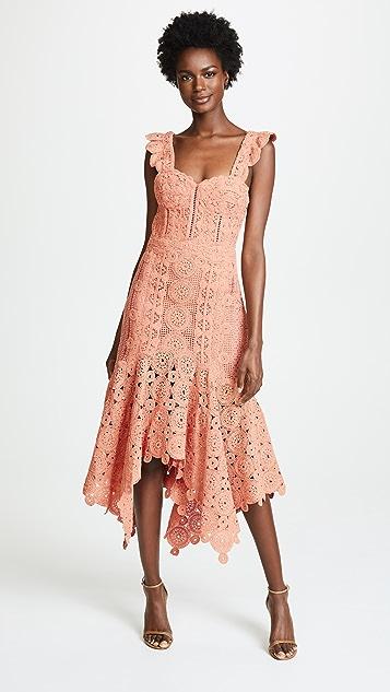 53483a82a7ce8 Jonathan Simkhai Macrame Ruffle Bustier Dress   SHOPBOP