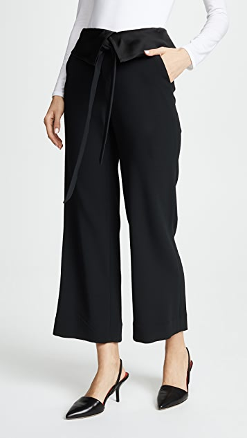 Jonathan Simkhai Deconstructed Satin Crepe Pants