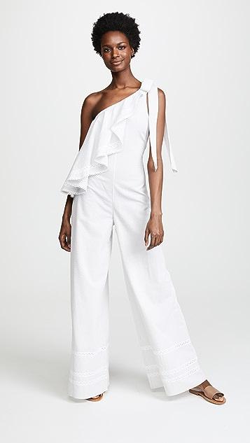 Jonathan Simkhai Striped Cotton Jumpsuit