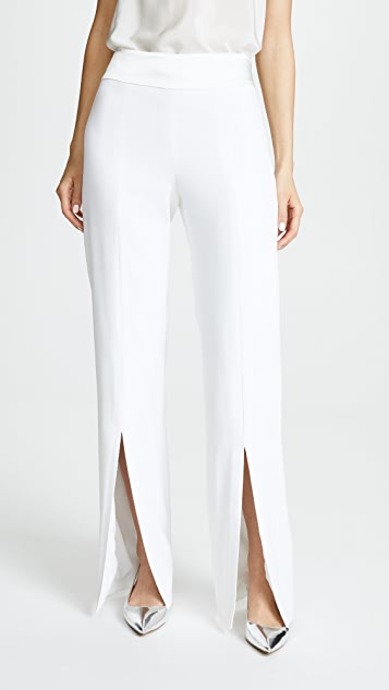Jonathan Simkhai Satin Combo Front Slit Pants