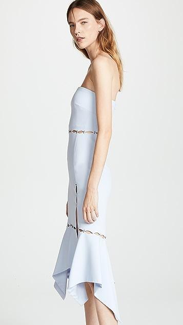 Jonathan Simkhai Crepe Side Slit Dress