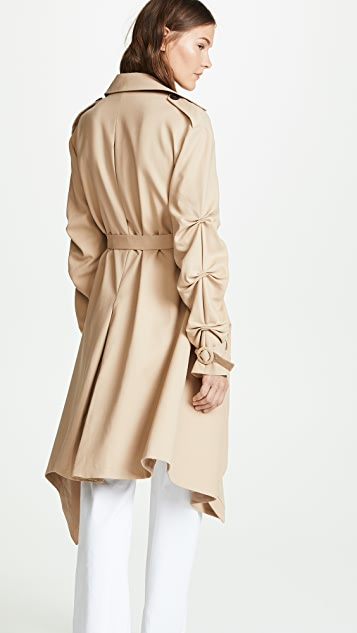 Jonathan Simkhai Tucked Sleeve Trench Coat