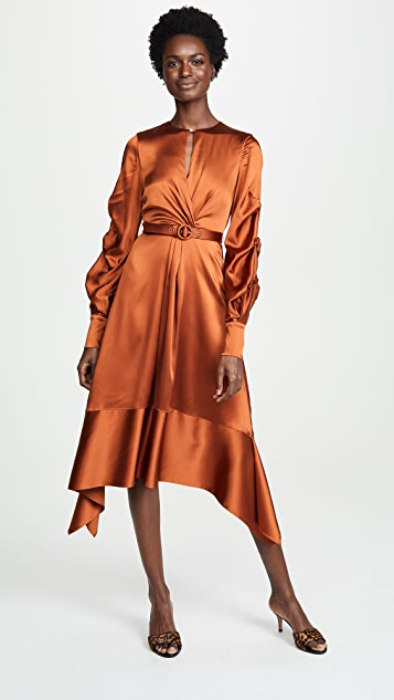 Jonathan Simkhai Satin Keyhole Midi Dress