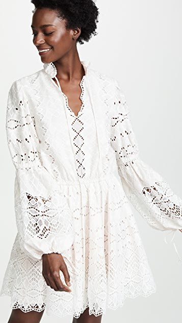 Jonathan Simkhai Diamond Cotton Dress