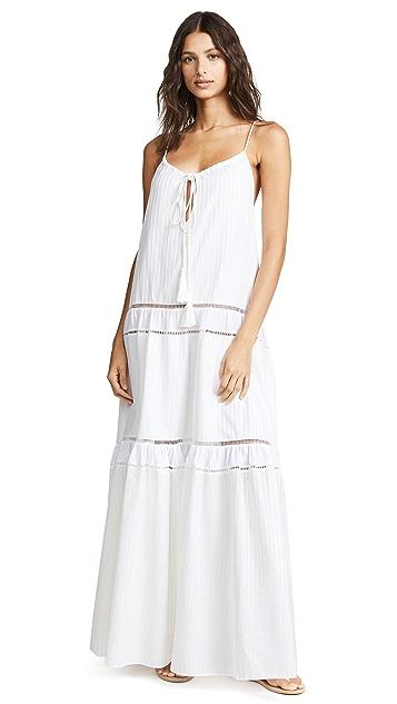 Jonathan Simkhai White Drawstring Tank Dress