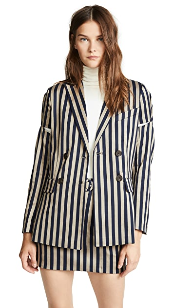Jonathan Simkhai Structured Double Breasted Blazer
