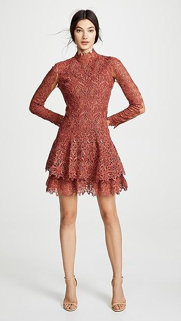 Jonathan Simkhai Guipure Lace Long Sleeve Dress