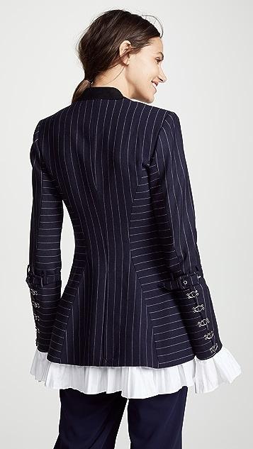 Jonathan Simkhai Pinstripe Tailoring Basque Jacket