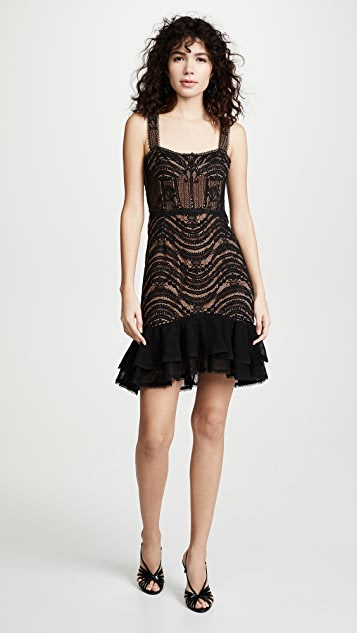 Jonathan Simkhai Bustier Mini Ruffle Dress